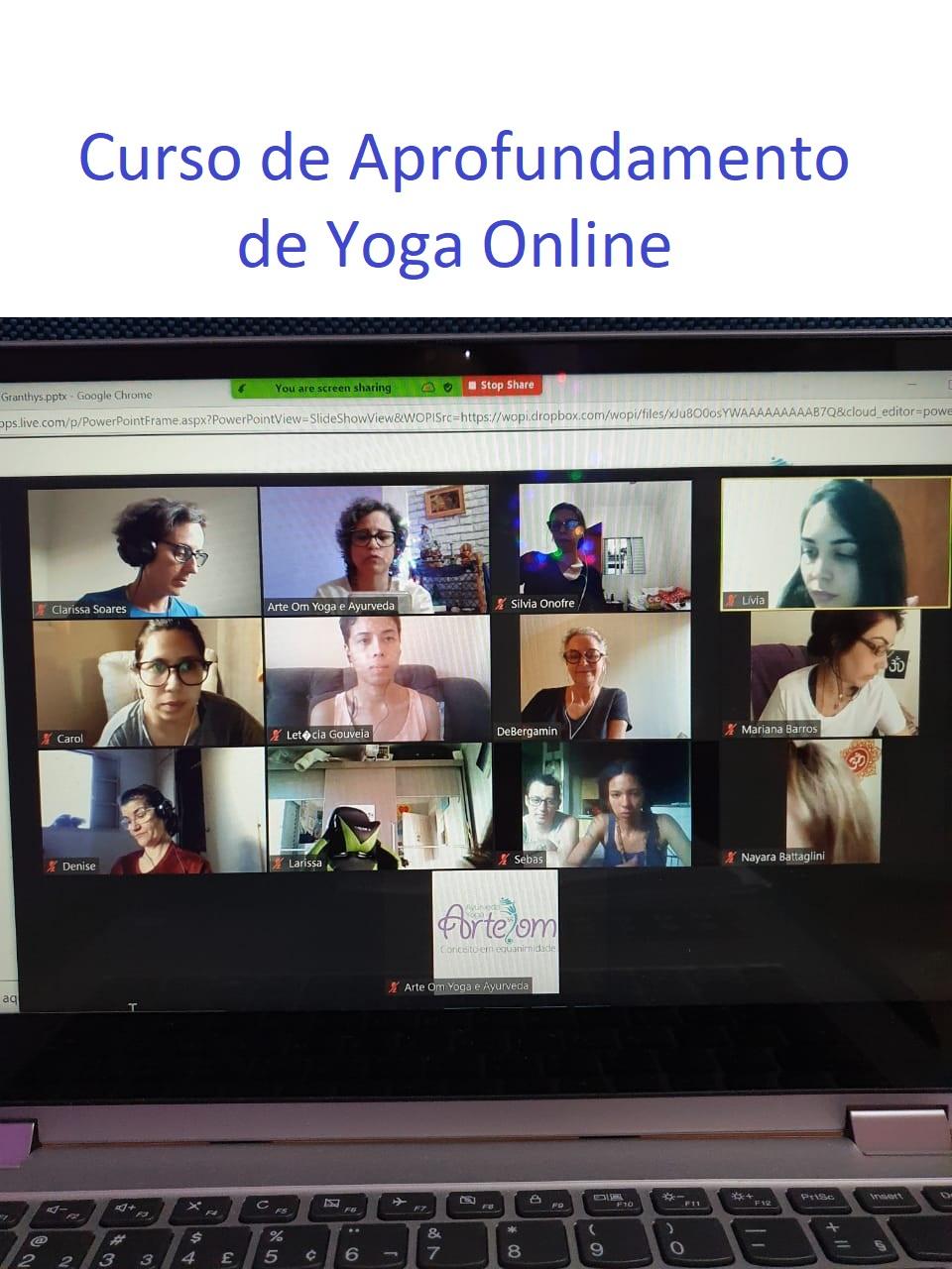 Curso de Aprofundamento Yoga Online Ao Vivo